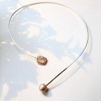 Elegance - Zilveren spang met parels -