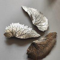 Feuilles d'automne - Zilveren broches -