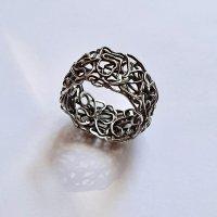 Franqueza 2 - Opengewerkte zilveren ring -