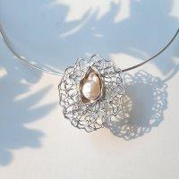 Gentil - Zilveren hanger met parel -