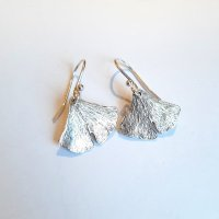 Ginko Silver - Zilveren oorhangertjes -