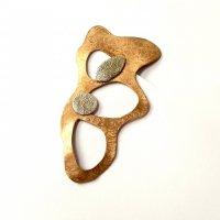 Movimiento - Goudlkeurige broche -