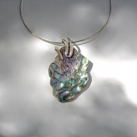 Paua - Zilveren hanger met Paua Shell -