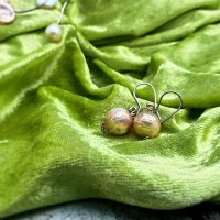 Pearlzz - Zilveren oorhangers met parel -