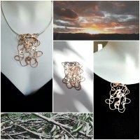 Ramillas - Broche/hanger goudkleurig brons -
