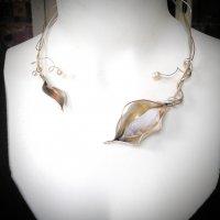 Sunflower - Zlveren spang met opaal -