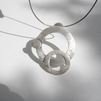 Vueltas - Zilveren collier -