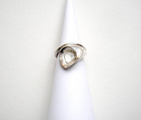 Fiore Due - zilveren ring met bergkristal - Ringen