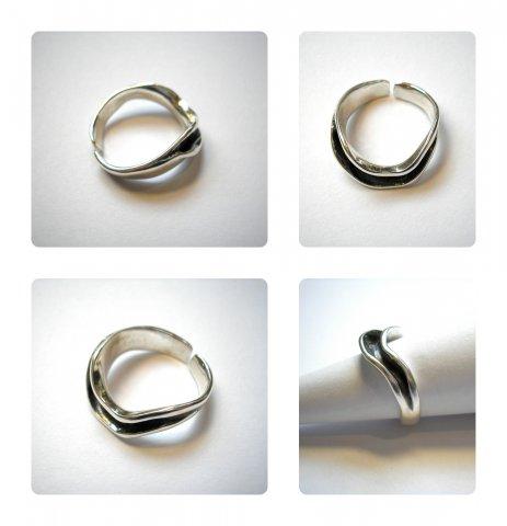 Flow - moderne zilveren ring  - Ringen