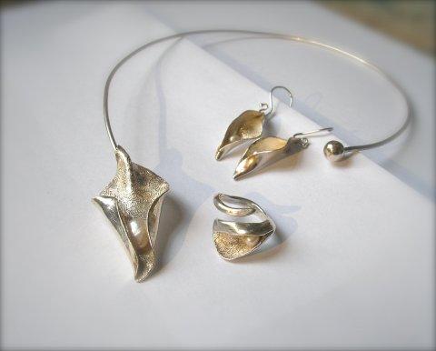 Jeunesse - organisch zilveren collier  - Collier