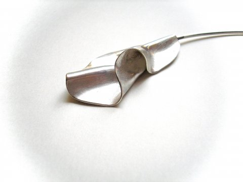 La Ruga - Asymmetrisch zilveren collier - Collier