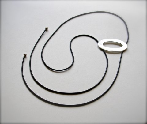 Linda  - modern zilveren halssieraad - Collier