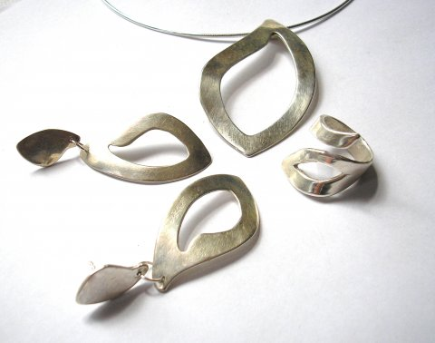 Magnificent - elegant zilveren sieraden set - Collier