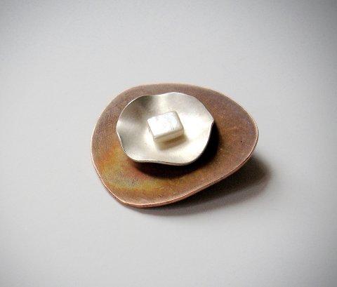 Paola - Broche van zilver en koper - Broches