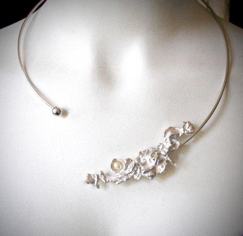 Princezz - asymmetrisch zilveren halssieraad - Collier