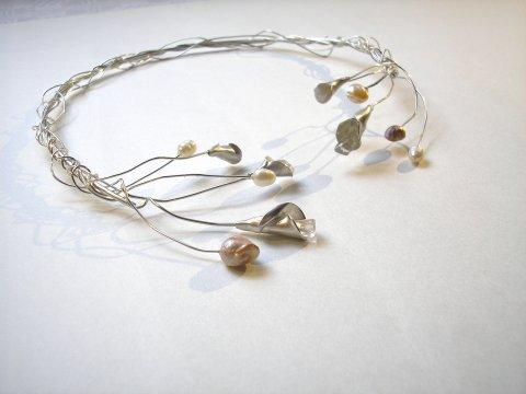 Sparkle Collier Zilver met Parels en Bergkristal - Collier