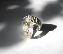 Trouwringen zilver en goud