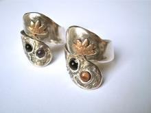 Lotus - Trouwringen - zilver en goud - opdracht Voorburg