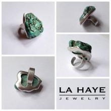 La Haye Jewelry - Den Haag - Handegmaakte Zilveren ring met Turkoois