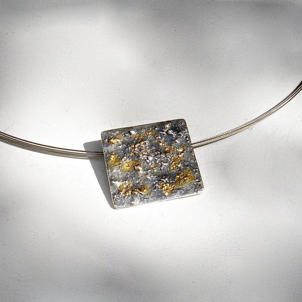 Belleza - Zilveren hanger met goud -