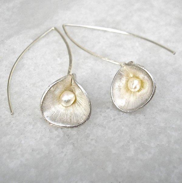 Ciernes - Zilveren oorbellen met parel -