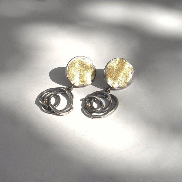 Dorado - Oorhangers met goud en zilver -