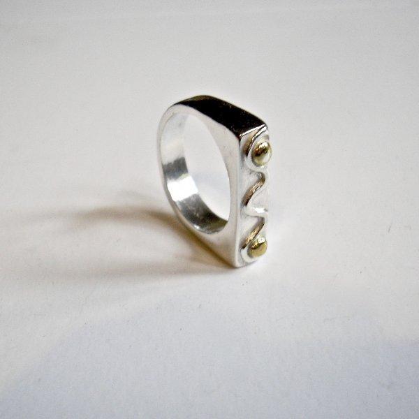 Fionda - Zilveren ring met goud -