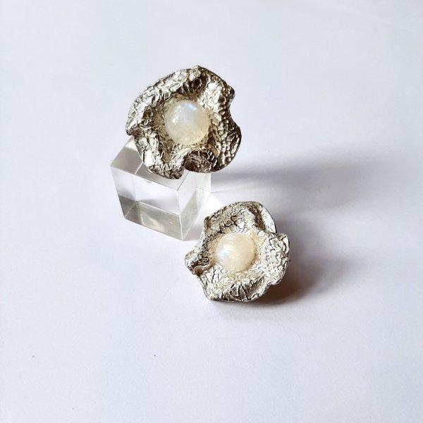 Flores - Zilveren oorbellen -