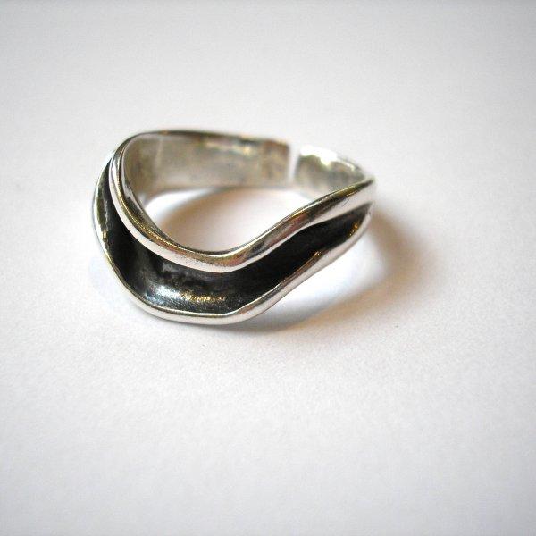 Flow - Moderne zilveren ring  -