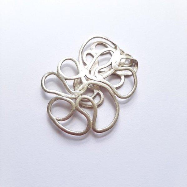 Foliage - Zilveren broche -