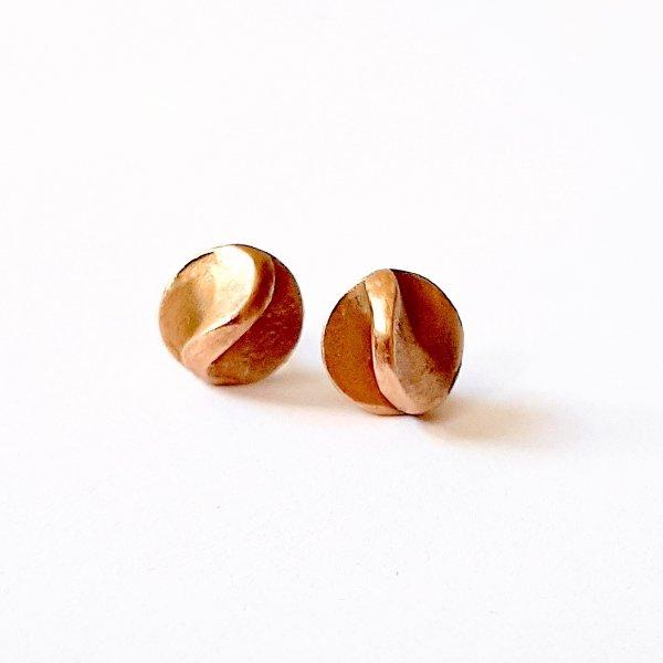 Fundido Bronze - Goudkleurige oorstekertjes -