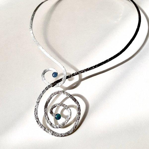 Gaia - Zilveren collier met Opaal -