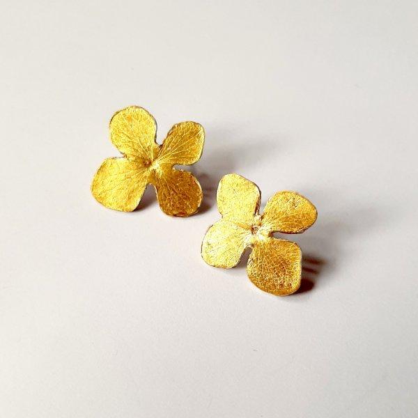 Hortense - Oorbellen verguld zilver -