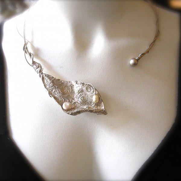 Lujuria - Zilveren statement hanger met parels -
