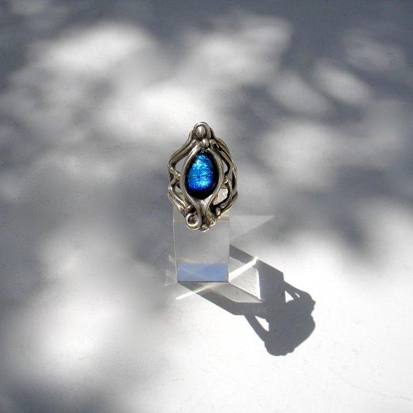 Misterio Azul - Zilveren ring -