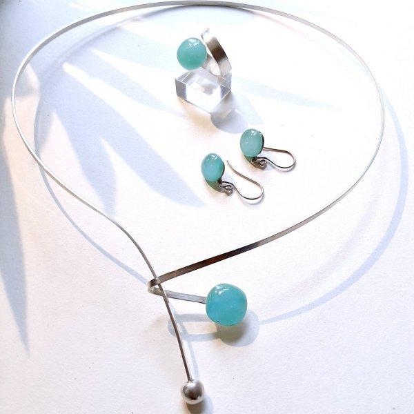 Myrthos - Zilveren collier met turquois -