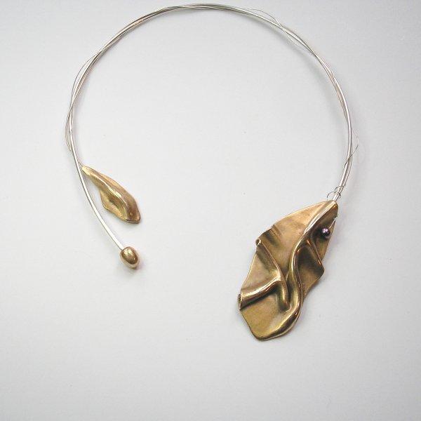 Ondinha - Goudkleurige hanger aan spang -