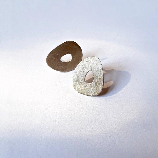 Ruvido - Zilveren oorbellen -