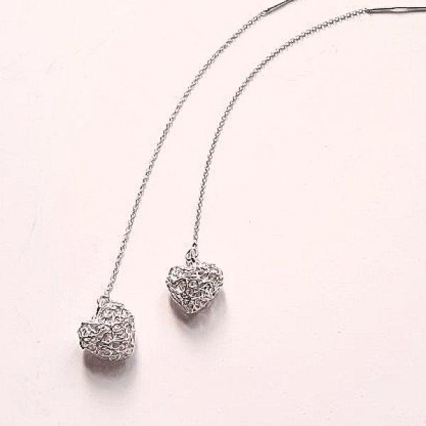 Silver Hearts - Zilveren oorbellen -