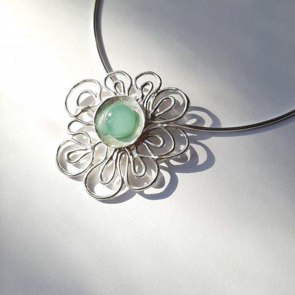 Summertime - Zilveren hanger met Turquoise -