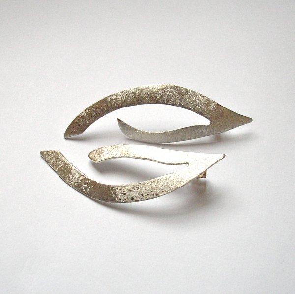 Tender - Zilveren oorhanger -