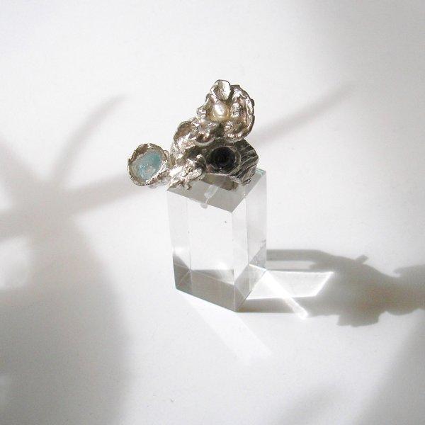 Topaas Paradise - Zilveren ring met edelstenen -