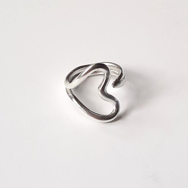 Valentijn ring - Zilveren hartjesring -