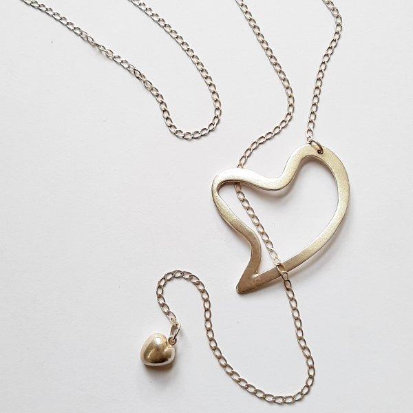 Amoureuzz - Zilveren hartjeshanger -