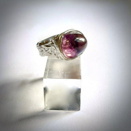 Amethisto - Zilveren ring met Amethist -