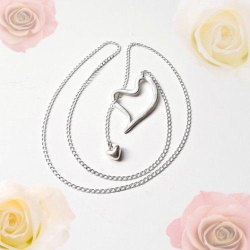 Be My Valentine! - Zilveren ketting met hartjes -