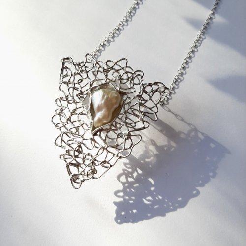 Beautiful - Zilveren hanger met parel -
