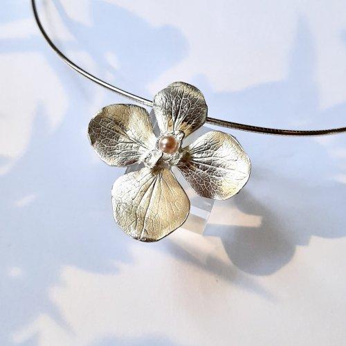 Bella Fiore - Hanger Bloem zilver -