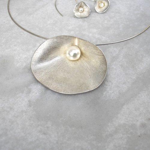 Ciernes - Zilveren hanger met parel -