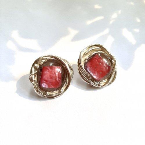 Classy - Zilveren oorbellen met glas -